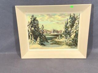Winter Scene Oil Painting by JV DoornIJ