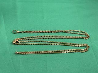 C1920 Gold Filled Decorative Sliding Chain Slide