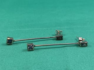 Sterling Silver Modernist Drop Earrings w