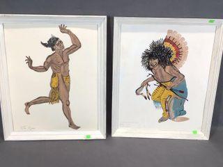 2 Native Figure Paintings