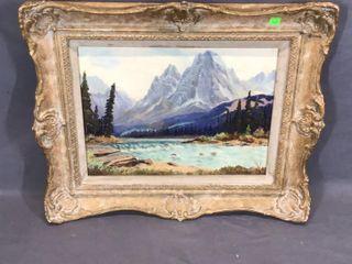 Mount Aberdeen Scene Oil Painting