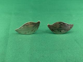 Pair of Birks Sterling Silver Earrings