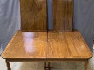 Mahogany 2 Piece Inlay Dinning Room Table
