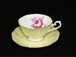 Royal Albert Pale Yellow Teacup and Saucer