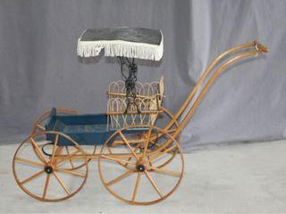 Wooden Wheeled Doll Pram