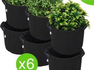 6 PCS GROW BAG FABRIC GROW POT