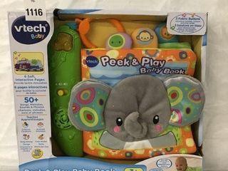 VTECH PEEK   PlAY BABY BOOK AGE 3M
