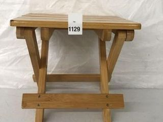 FOlDABlE SOlID WOOD MINI STOOl PORTABlE OUTDOOR