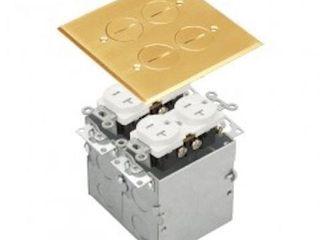 ENERlITES 0975510 C BRASS 2  GANG FlOOR BOX