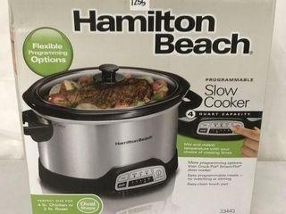 HAMIlTON BEACH SlOW COOKER 4 QT CAPACITY