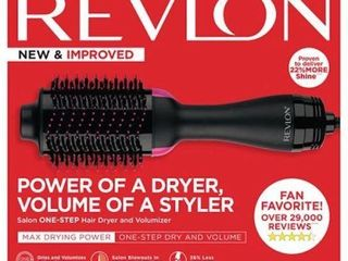 REVlON NEW IMPROVED ONE STEP HAIR DRYER AND