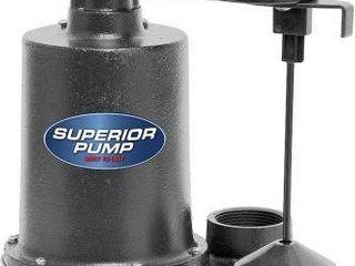 SUPERIOR PUMP SUBMERSIBlE CAST IRON 923411 1 3 HP