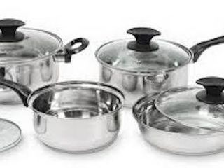 STARBASIX STAINlESS STEEl COOKWARE SET