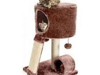 PERCH SMAll BROWN CAT CONDO