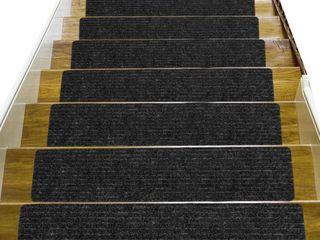 8PC SET CARPET STAIRS TREADS NON SlIP RUNNER FOR