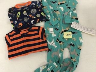 3 PACK SNUG FIT FOOTED COTTON PAJAMAS FOR