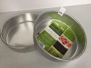 2 PCS NORDIC WARE 9 INCH ROUND lAYER CAKE PAN