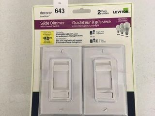 2 PCS DECORA SlIDE DIMMER WITH PRESET SWITCH