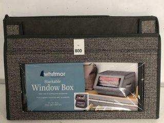 WHITMOR STACKABlE WINDOW BOX SIZE 14  X 15  X 10