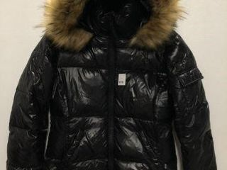 S13 NEW YORK WOMENS FAUX FUR HOODED PUFFER JACKET