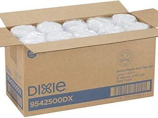 500 PIECES DIXIE DOME PlASTIC COVER HOT CUPS FOR