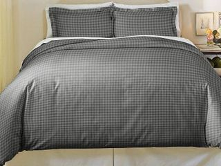 Pointhaven Farmhouse Cotton Flannel Duvet Cover Set Full Queen Size