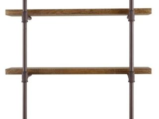 Industrial 3 Tier Floating Wall Shelves