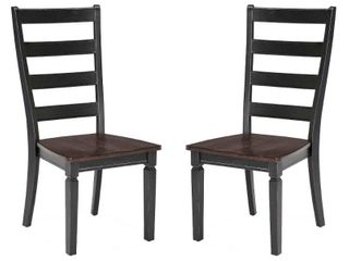 Charcoal ladder Back Barstools SET OF 2
