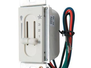 Hunter 27182 White Sliding Wall Control For Fan And lights
