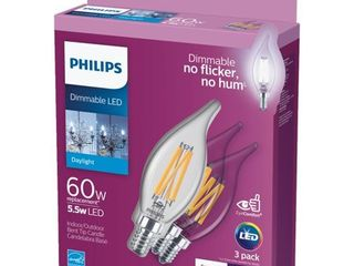 Philips BA11 Candelabra Dimmable lED Decorative light Bulb