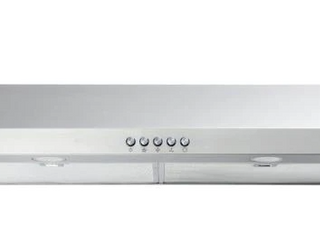Vissani 30 in  W Convertible Under Cabinet Range Hood with Charcoal Filter in Stainless Steel  Silver