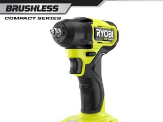 RYOBI ONE  HP 18V Brushless Cordless Compact 3 8 in  Impact Wrench  Tool Only