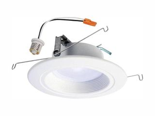 Halo Rl 5 in  and 6 in  White Integrated lED Recessed Ceiling light Trim at Selectable CCT  Extra Brightness  940 lumens