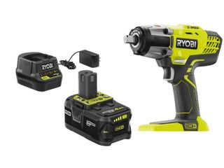 RYOBI ONE  18V Cordless 3 Speed 1 2 in  Impact Wrench Kit with  1  4 Ah Battery  Charger and Bag