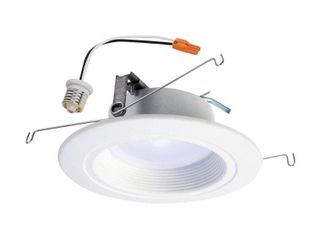 Halo Rl 5 in  and 6 in  2700K 5000K White Integrated lED Recessed Ceiling light Trim at Selectable CCT   665 lumens