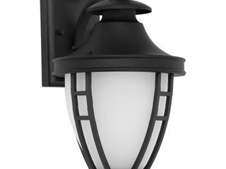 Progress lighting Fairview Collection 1 light 14 2 in  Outdoor Textured Black lED Wall lantern Sconce