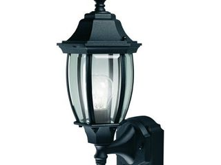 Heath Zenith HZ 4192 Black 18 1 2  Tall 1 light 180 Degree Motion Activated Outdoor Wall