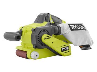 ryobi p450 one  18v lithium ion 3 x 18 inch brushless belt sander w  dust bag and included sanding pad  battery not included  tool only