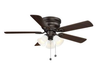 Clarkston II 44 in  lED Indoor Oiled Rubbed Bronze Ceiling Fan with light Kit