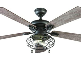Home Decorators Collection Ellard 52 in  lED Indoor Matte Black Ceiling Fan with light