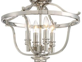 Minka lavery Audrey s Point 17 1 4  Wide Polished Nickel Ceiling light