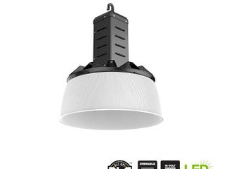 Commercial Electric 16 in  750 Watt Equivalent Integrated lED Dimmable Black High Bay light 5000K