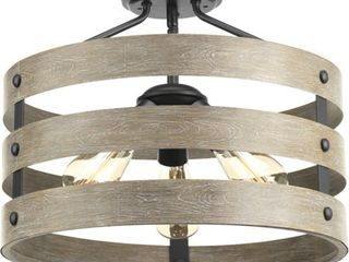 Gulliver Collection Collection Three light 17  Semi Flush Convertible