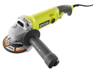 Ryobi 7 5 Amp 4 5 in  Corded Angle Grinder  Used   Good Condition