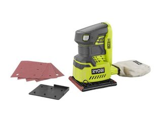 Ryobi 18 Volt ONE  Cordless 1 4 in  Sheet Sander  Bare Tool  with Dust Bag P440