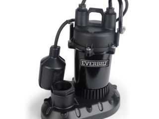 Everbilt 1 2 HP Submersible Aluminum Sump Pump with Tethered Switch