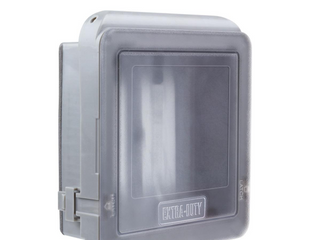 Commercial Electric 2 gang Extra Duty Non Metallic Weatherproof Receptacle Cover
