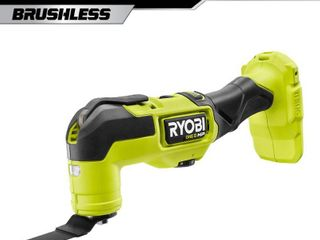 GENTlY USED SEE PICTURE  RYOBI ONE  HP 18V Brushless Cordless Multi Tool  Tool Only