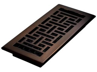 Decor Grates AJH410 RB Oriental Floor Register  Rubbed Bronze  4 Inch by 10 Inch