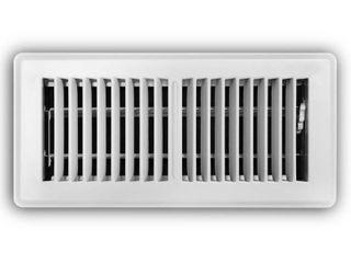 Everbilt 4 in  x 10 in  2 Way Steel Floor Register in White  Powder Coat White  Qty of 2